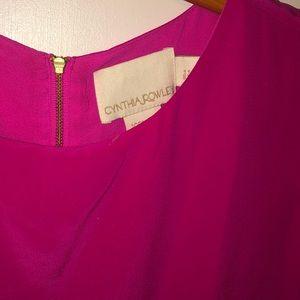 Cynthia Rowley Dresses - CYNTHIA ROWLEY MAGENTA SILK DRESS - 4